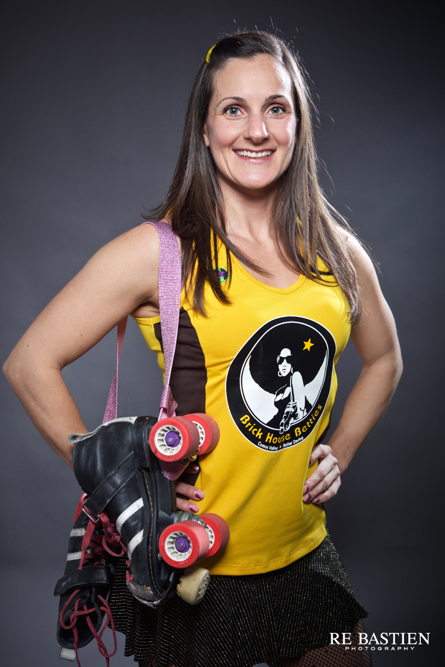 Roller Derby skater portraits by Re Bastien Photography